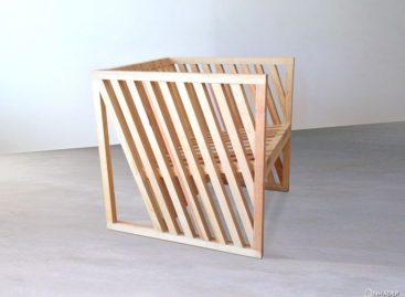 Chiếc ghế có thiết kế được lấy cảm hứng từ khối hình lập phương