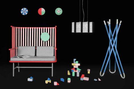 Bộ sưu tập nội thất Kc đa sắc màu được làm từ mây