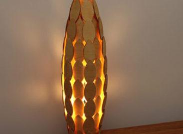 Bộ sưu tập đèn gỗ mộc mạc nhưng hiện đại của Ronny Buarøy