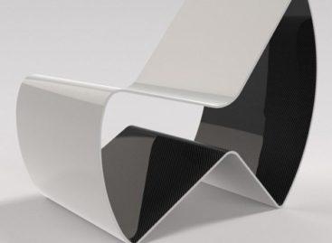 Chiếc ghế RV1 được làm từ tấm carbon fibre
