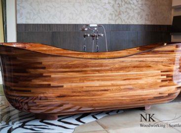 Những bồn tắm gỗ cho thiết kế nội thất hiện đại và phòng tắm sang trọng (phần 3)