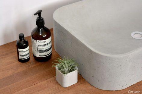 Bồn rửa mặt Scoop hiện đại với chất liệu mới