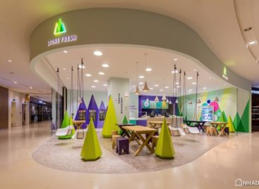 Cửa hàng yogurt Stone Fresh với thiết kế bắt mắt