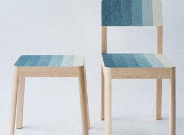 Những chiếc ghế gỗ với dải màu sắc bắt mắt của Kazuya Koike