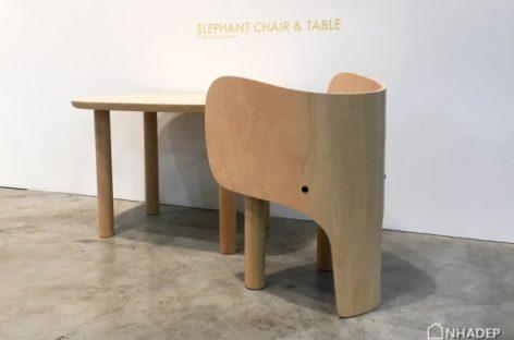 Ngắm nhìn bộ sản phẩm nội thất độc đáo dành cho trẻ em The Elephant