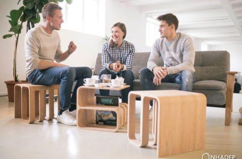 Chiếc ghế Woodieful đa năng của nhà thiết kế Klavdija Jarc