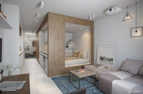 Thiết kế sáng tối đối lập độc đáo của hai căn hộ nhỏ