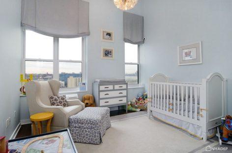 25 thiết kế phòng cho trẻ sơ sinh với màu xanh nổi bật (Phần 2)