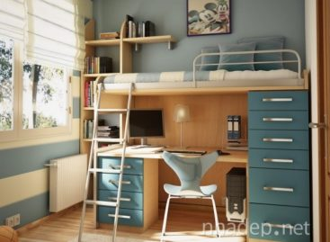 Căn phòng dành cho tuổi teen đầy màu sắc