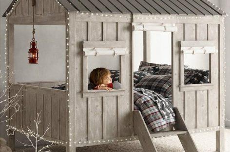 Chiếc giường cabin dễ thương dành cho trẻ em