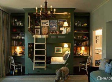 Các mẫu giường tầng trẻ em độc đáo giúp tiết kiệm không gian cho ngôi nhà