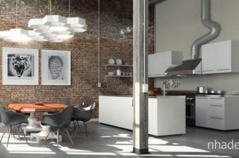 Những bức tường thô ấn tượng giữa không gian nội thất