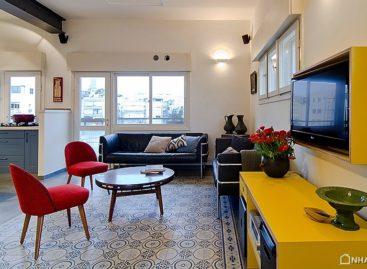 Những đổi mới đầy màu sắc mang vẻ đẹp xưa đến cho căn hộ vùng Tel Aviv