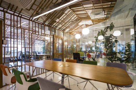 Mang truyền thống vào không gian làm việc trong thiết kế văn phòng TPG Village