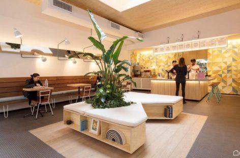 Thiết kế hiện đại của nhà hàng Humblefish ở Tribeca