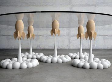 Chiếc bàn cà phê tên lửa độc đáo của Stelios Mousarris