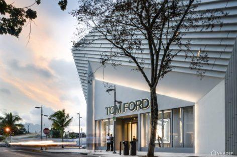 Đến thăm cửa hàng Tom Ford ở Miami với mặt tiền được thiết kế lạ mắt