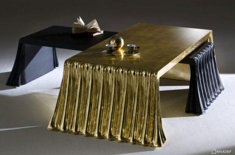 Những thiết kế bàn cà phê mạ vàng hiện đại và công phu