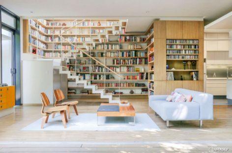 Những thiết kế phòng khách dành cho các tín đồ yêu đọc sách