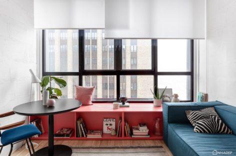 Những vật dụng nội thất nhỏ với điểm nhấn màu đỏ, hồng và xanh