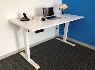 [QC] Không lo mỏi lưng, xấu dáng với bàn đứng văn phòng Ergonomic